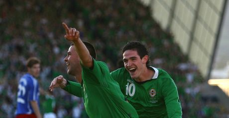 Healy: Celebrates with Lafferty
