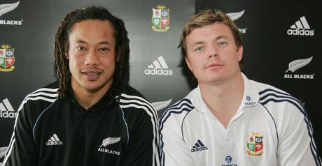 Before the storm: Tana Umaga and Brian O'Driscoll