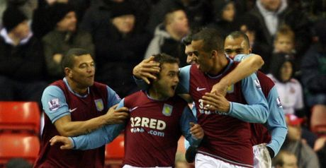 Villa celebrate Maloney's equaliser