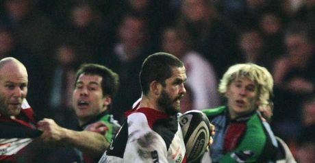 Saracens' Andy Farrell on the charge