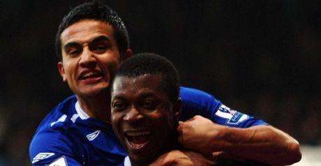 Yakubu: Celebrating his opener