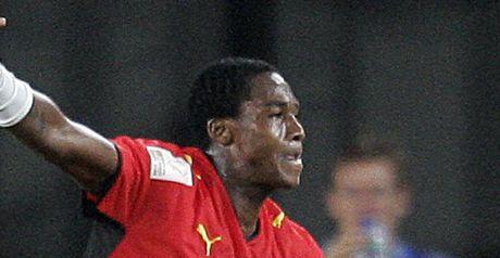 Manucho celebrates Angola's opener