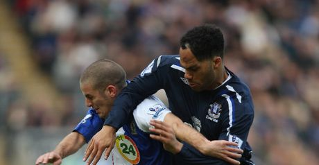 Hard fought: Bentley tussles with Lescott