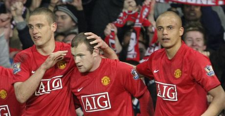 Rooney is congratulated after opening the scoring