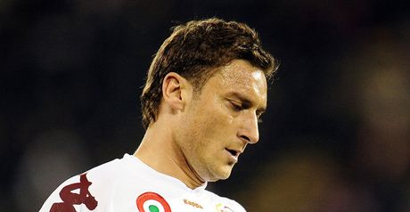 Totti: Set to miss out