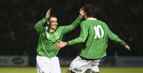 Lafferty and Healy celebrate the opener