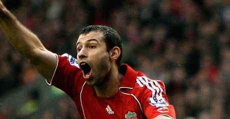 Mascherano celebrates the equaliser