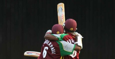 Amazing: Chanderpaul and Edwards celebrate