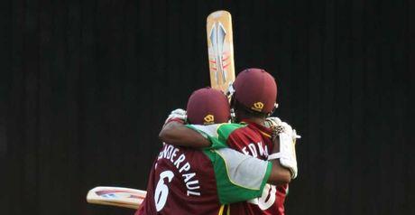 Amazing: Chanderpaul and Edwards celebrate