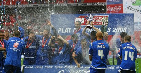 Stockport celebrate their promotion