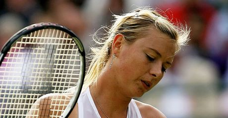 Sharapova: injury woe