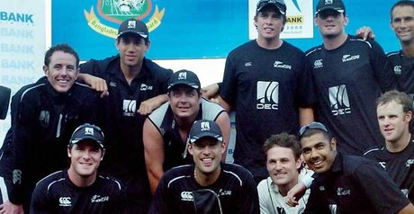 New Zealand celebrate the series win