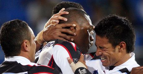Fiji celebrate their 30-14 victory