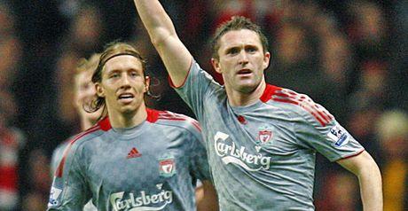 Keane celebrates his goal