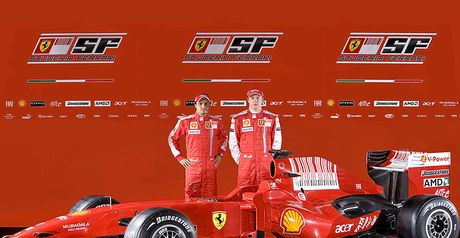 New car: Massa and Raikkonen with the F60 (Ferrari Copyright Free)
