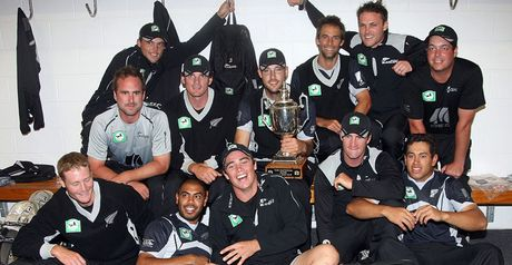 Series win: New Zealand celebrate