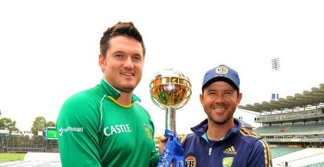 Smith (left) and Ponting