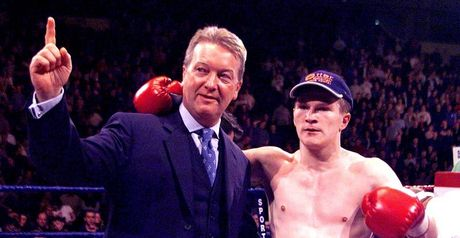 Frank Warren and Ricky Hatton back in the day