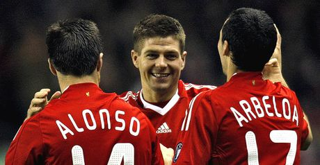 Gerrard: At the double for Liverpool