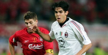 Gerrard and Kaka in 2005