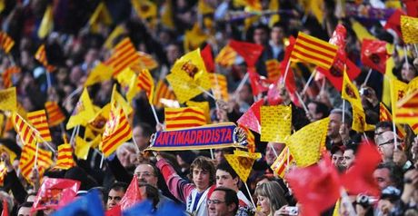 Fan power: Barca's supporters show their true colours