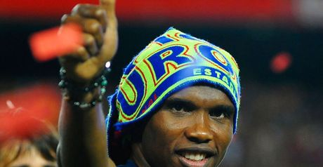 Eto'o: Lost his phone?