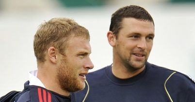 Flintoff (left) and Harmison: friends and team-mates