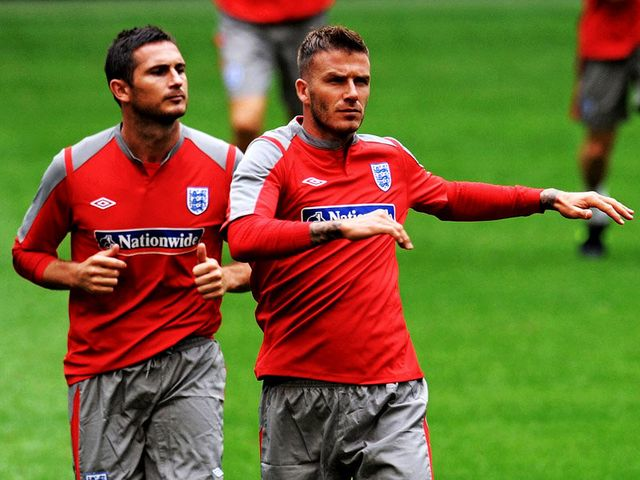Lampard and Beckham: Wanted by Ranieri at Monaco