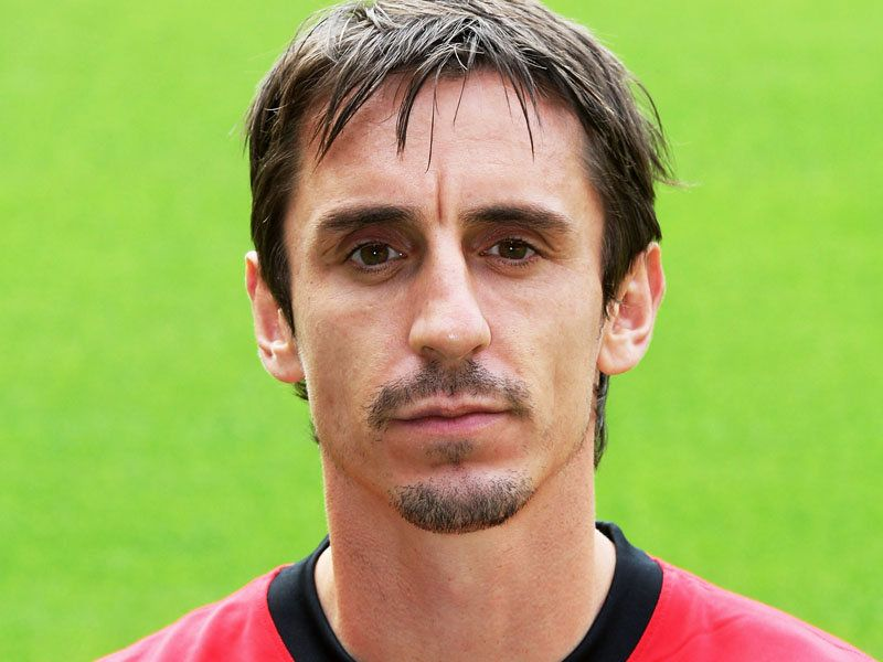 The 42-year old son of father Neville Neville and mother Jill Neville, 180 cm tall Gary Neville in 2017 photo