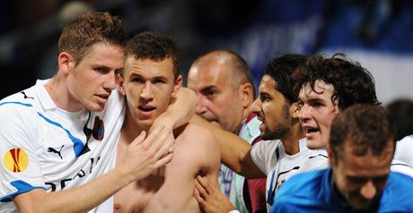 Perisic (centre) finished top scorer in the Belgian Pro League this term