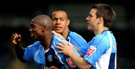 Pittman (left): On target for Wycombe