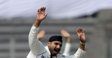 Harbhajan: kicked advertising board