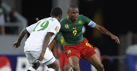 Samuel Eto'o in action for Cameroon