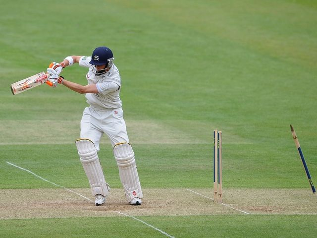 Simpson - bowled by Kirby.