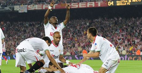Sevilla celebrate trophy success