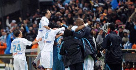 Marseille players celebrate
