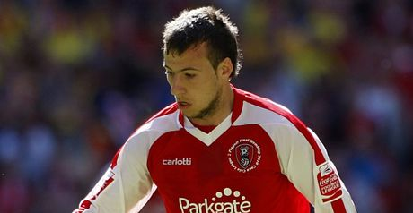 Le Fondre: Hit the post for Rotherham