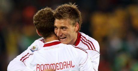 Bendtner: On target with a brace for Denmark