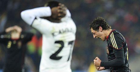 Ozil celebrates scoring the only goal