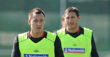 John Terry and Frank Lampard in training