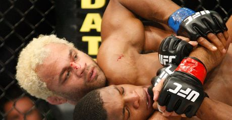 Gripping: Koscheck (left) in action