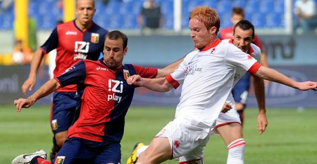 Palacio: In the thick of the action for Genoa in Serie A