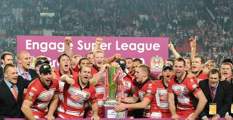 Wigan: celebrate their first Super League title since 1998