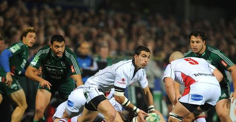 Quick service: Pienaar gets Ulster's back division in motion