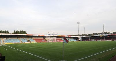 Glanford Park: Frozen pitch