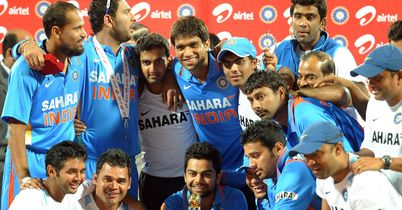 Mission accomplished: India celebrate their fifth win in a row
