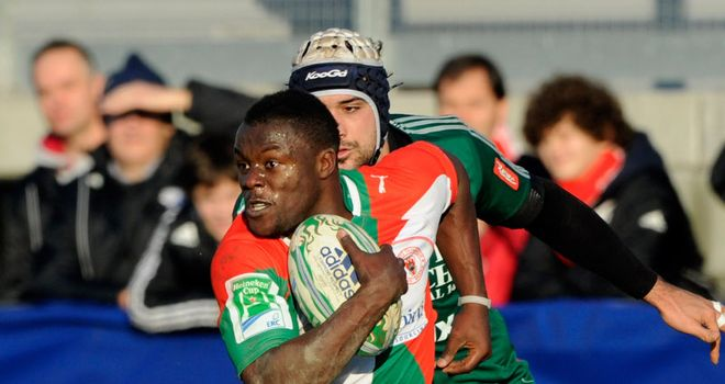 Ngwenya: scored Biarritz's fourth and final try