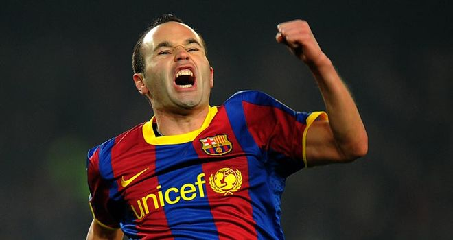 Iniesta: Could be banned for CL first-leg clash with rivals Real Madrid on 27th April