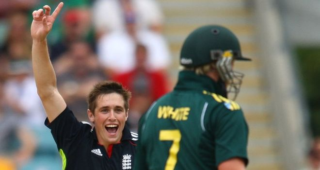 Up and running: Woakes impressed during his three ODI appearances in Australia