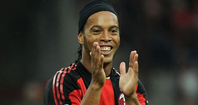 Ronaldinho: Enjoyed a spell with AC Milan before returning back to Brazil